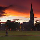 Sunset on St. Barclay's Church, Edinburgh by Alastair Faulkner