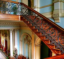 The Staircase at Werribee Mansion by Christine Smith