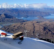 Top of 6 seater express lift at Treble Cone NZ by Charles Kosina