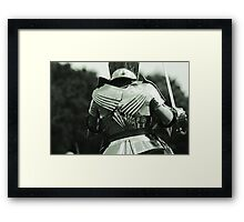Pauldrons and Backplate Framed Print