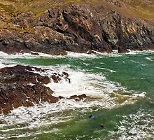 Kynance Cove at High Tide by GBR309