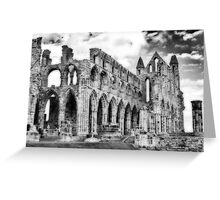 Whitby Abbey #2  B & W Greeting Card