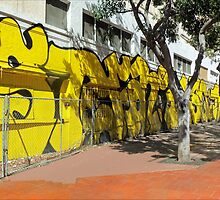 Upscale StreetArt in Yellow by paintingsheep