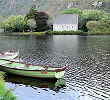Boats on Gougane Barra Lake/Forest Park,Co.Cork,Ireland. by Pat Duggan