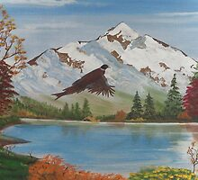 Oregon Mountains by EMBlairArtwork