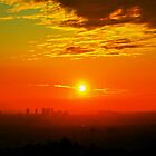 Sunset View from Griffith Observatory (Los Angeles) by Anusheel Verma