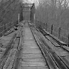 bridge in black and white by Lisa Milam