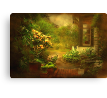 """The Little Brick Pathway ..."" Canvas Print"