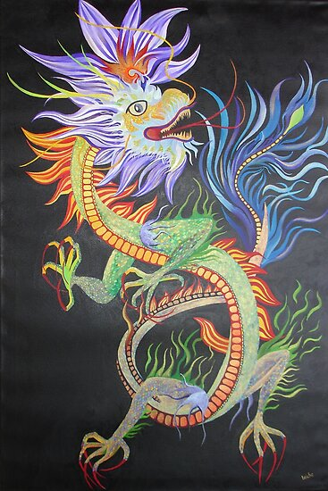 Chinese Fire Dragon by taiche