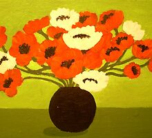 A VASE OF POPPIES by Dian Bernardo