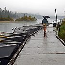 Rainy Fall Day at Clear Lake Resort  by Chuck Gardner