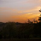 Sunset over the Dordogne Vally by Elaine123