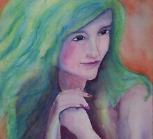 Holly Hunter in green by Ellen Keagy