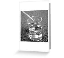 Beaker droplet 2 Greeting Card