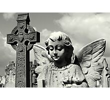 Angel and Irish cross Photographic Print