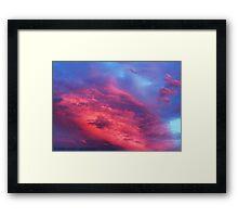 Pink Sunset Framed Print
