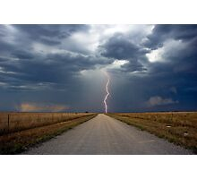 Lightning Strike in the Great Plains (Bartlesville, Oklahoma, USA) Photographic Print