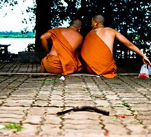 Monks Chatting by aitor314