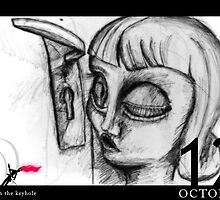 October 12th - Through the keyhole by 365 Notepads -  School of Faces