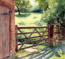 Farm Gate by Ann Mortimer