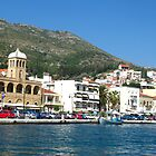 Samos town - view from the sea by Maria1606