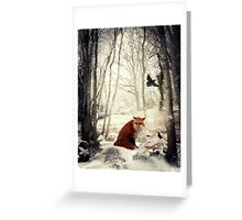 On a Winter's Day Greeting Card
