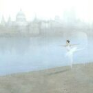 Ballerina on the Thames by Stephen Mitchell
