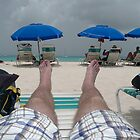 Beach life with my feet by Brady Flageole