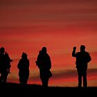 Sunset and people by indianpeteee
