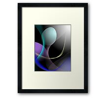 Cute shapes in different colours Framed Print
