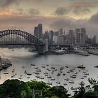 Brooding - Moods Of A City - Sydney Harbour, Sydney - The HDR Experience by Philip Johnson