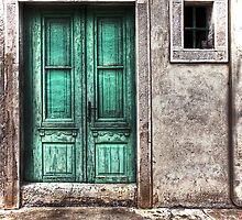 The green door by Luisa Fumi