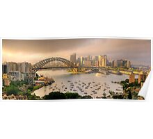 A Little Ray Of Sunshine - Sydney Harbour, Sydney Australia - The HDR Experience Poster
