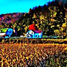 Wisconsin Fall Farm in Fractalius by laxwings