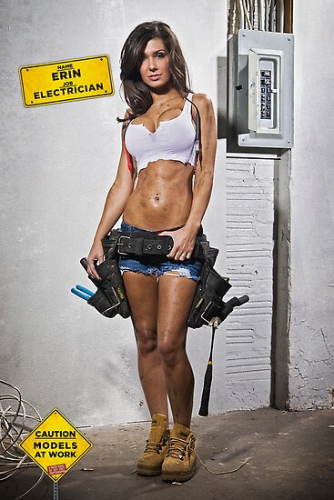 Quot Caution Models At Work The Electrician Quot By Jeff Zoet