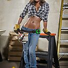 Caution: Models At Work - The Construction Worker by Jeff Zoet