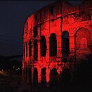 ROME - Colosseum in red - October 10th 2010 - # 1 by Daniela Cifarelli