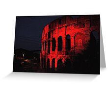 ROME - Colosseum in red - October 10th 2010 - # 1 Greeting Card