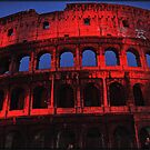 ROME - Colosseum in red - October 10th 2010 - # 2 by Daniela Cifarelli