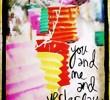 You and Me and Yesterday mixed media by DanielleQ