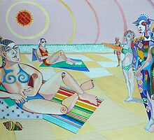 Picasso goes to the Seashore by Sally Sargent