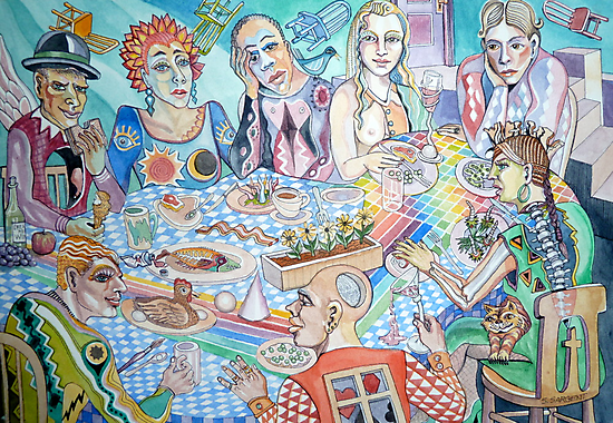 The Artist Guild Luncheon by Sally Sargent