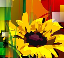 Beauty of sunflower with colour back ground	 by tillydesign