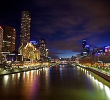 Melbourne at night by Michael Waghorn