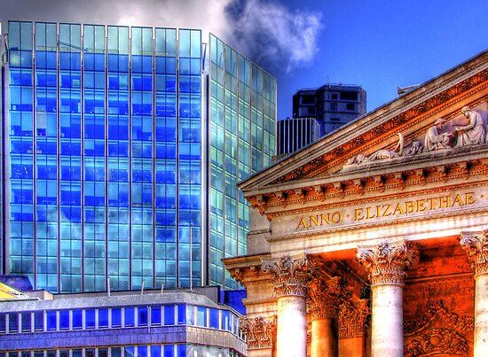 Old and New - Mansion House London - HDR by Colin J Williams Photography