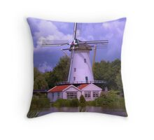 A Dutch Mill in HDR Throw Pillow
