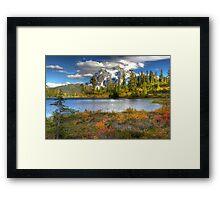 Mt. Shuksan in the Fall (HDR) Framed Print