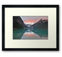 Lake Louise Sunrise Framed Print