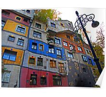 Hundertwasserhaus  ( Dr Seuss apartment ) Poster