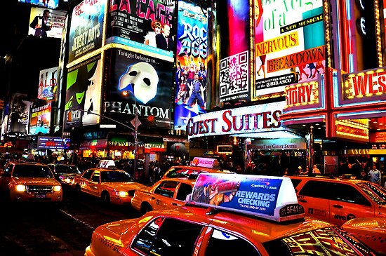 Times Square in New York City by Rhys  Bevan